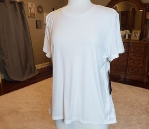 NWT Julianne Hough by MPG white athletic tee